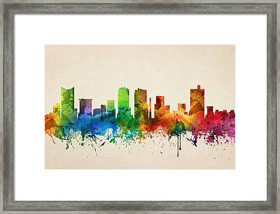 Fort Worth Texas Skyline 05 Framed Print by Aged Pixel