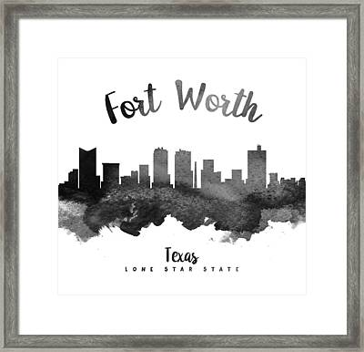 Fort Worth Texas Skyline 18 Framed Print by Aged Pixel