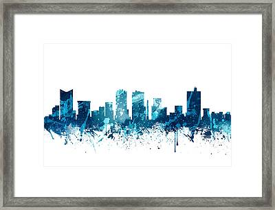 Fort Worth Texas Skyline 19 Framed Print by Aged Pixel