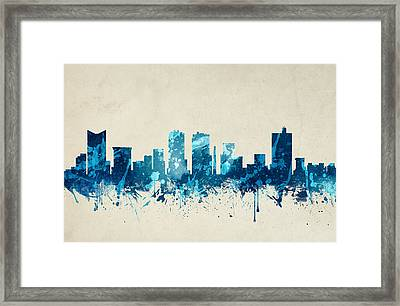 Fort Worth Texas Skyline 20 Framed Print by Aged Pixel