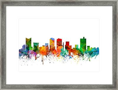 Fort Worth Texas Skyline 21 Framed Print by Aged Pixel