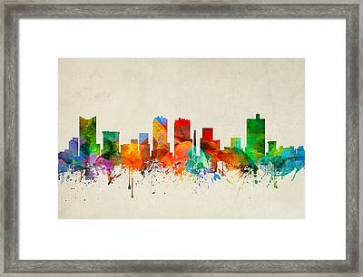Fort Worth Texas Skyline 22 Framed Print by Aged Pixel