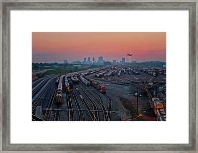 Fort Worth Trainyards Framed Print
