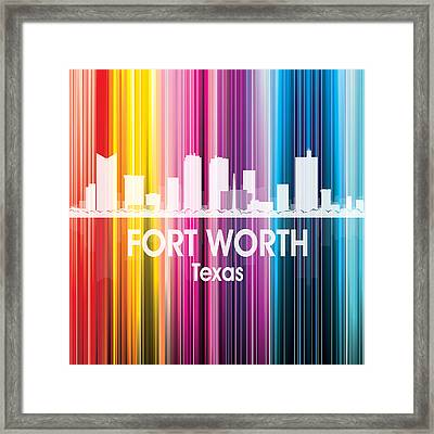 Fort Worth Tx 2 Squared Framed Print