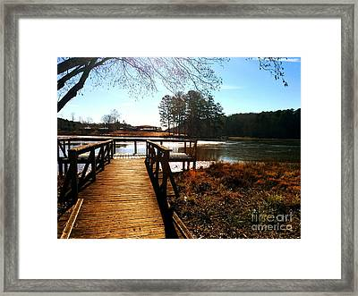 Fort Yargo Boardwalk Framed Print by Utopia Concepts