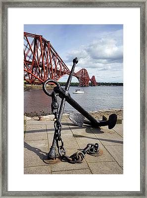 Framed Print featuring the photograph Forth Bridge by Jeremy Lavender Photography