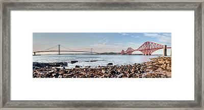 Forth Bridges Panorama Framed Print