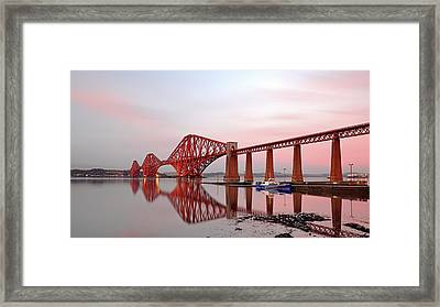 Framed Print featuring the photograph Forth Railway Bridge Sunset by Grant Glendinning
