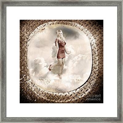 Forties And Fifties Military Pinup Poster Girl Framed Print by Jorgo Photography - Wall Art Gallery