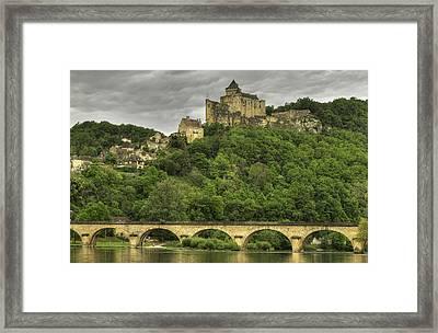 Fortified Castle Of Beynac In Dordogne France Framed Print by Arabesque Saraswathi