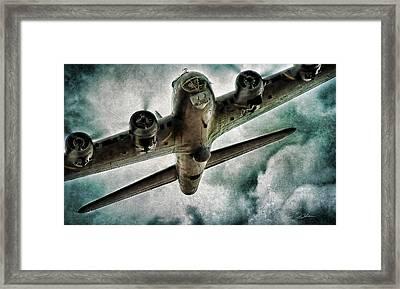 Fortress Flyover Framed Print