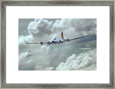 Fortress In The Clouds Framed Print