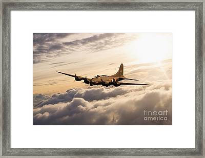 Fortress In The Sky Framed Print