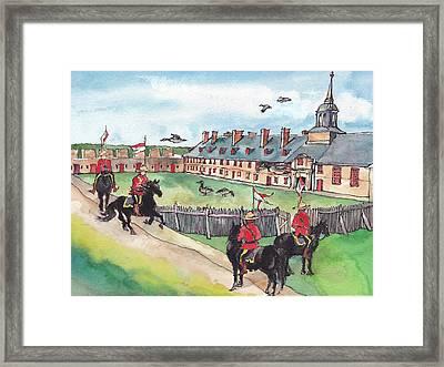 Fortress Of Louisburg Framed Print