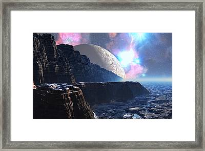 Fortress Of Nimmbl Framed Print by David Jackson