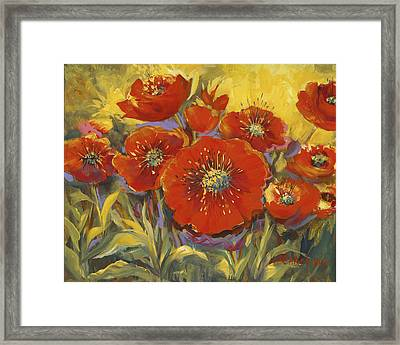 Fortuitous Poppies Framed Print