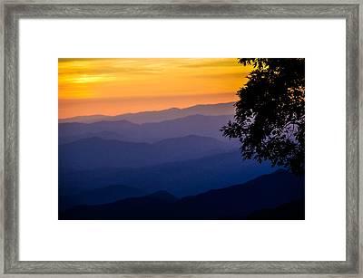 Fortuitous Sunset Framed Print