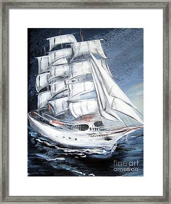 Fortunate. Sailing Ship Framed Print