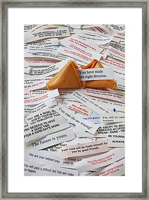 Fortune Cookie Sayings  Framed Print by Garry Gay