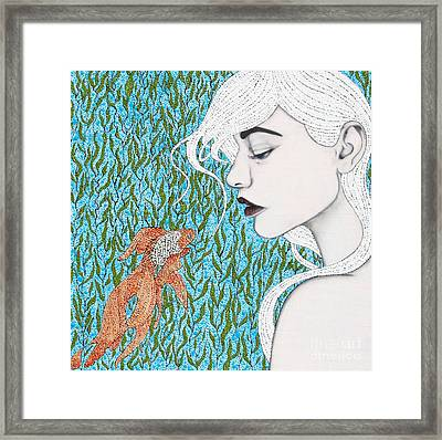 Framed Print featuring the mixed media Fortune Found Me by Natalie Briney