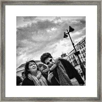 Fortune-teller #women #portrait Framed Print