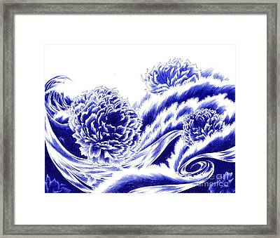 Fortunes Of Life - On The Tide Framed Print by Alice Chen