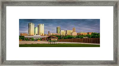 Fortworth Texas Cityscape Framed Print
