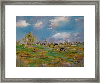 Framed Print featuring the painting Forty Acres by Judith Rhue