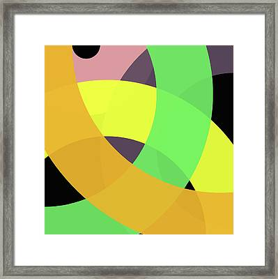 Forty -circle- Framed Print by Coded Images