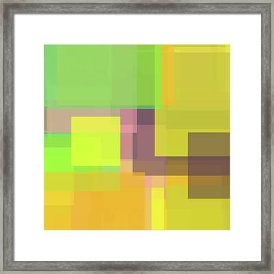 Forty -square- -composition- Framed Print by Coded Images