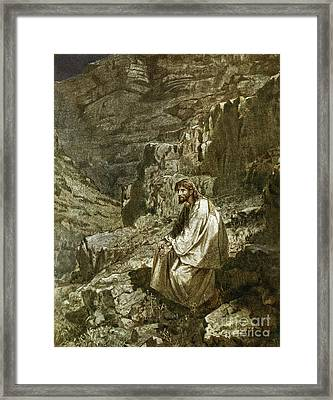 Forty Days In The Wilderness, Tempted By Satan Framed Print