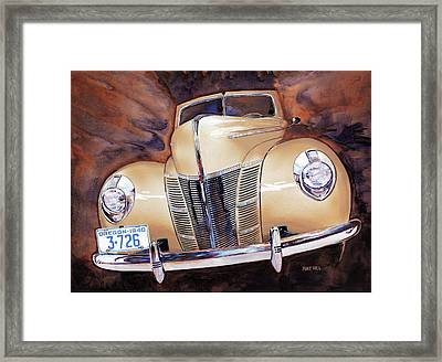 Forty Ford Framed Print by Mike Hill