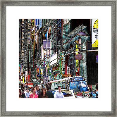 Forty Second And Eighth Ave N Y C Framed Print