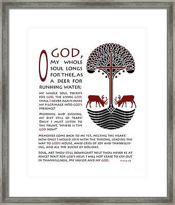 Forty Second Psalm Framed Print by Lawrence Klimecki