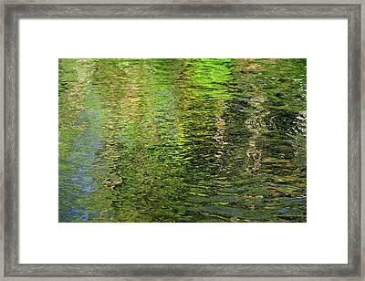 Forty Shades Of Green 1. Water Abstract Framed Print by Jenny Rainbow