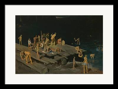 Sea Platform Paintings Framed Prints