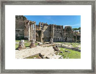 Framed Print featuring the photograph Forum Of Augustus by Scott Carruthers