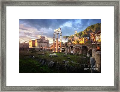 Forum Of Caesar Framed Print