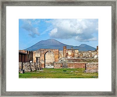 Forum Pompeii Framed Print by Lutz Baar