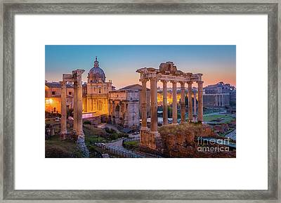 Forum Romanum Dawn Framed Print by Inge Johnsson