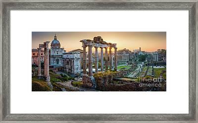 Forum Romanum Panorama Framed Print