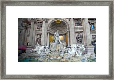 Forum Shops Statues At Ceasars Palace Framed Print