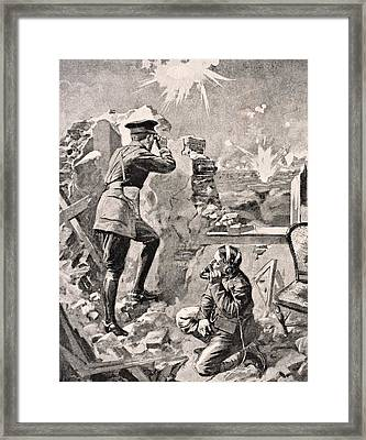 Forward Officer Observes Effect Of Framed Print by Vintage Design Pics