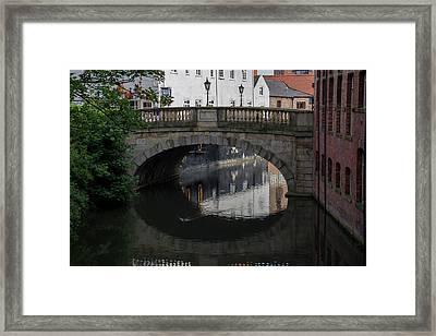 Framed Print featuring the photograph Foss Bridge - York by Scott Lyons