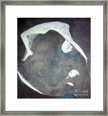 Fossil Swimmers Framed Print by Lisa Baack