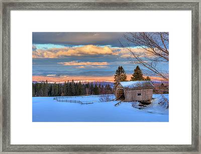 Framed Print featuring the photograph Foster Covered Bridge - Cabot, Vermont by Joann Vitali