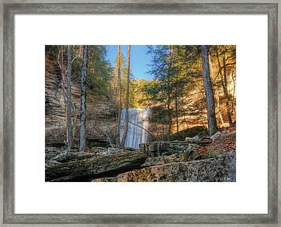 Lower Greeter Falls 1 Framed Print by Dale Wilson