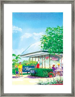 Fosters Freeze Framed Print by Ray Cole