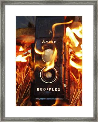 Foto Fire Framed Print by Todd Sherlock