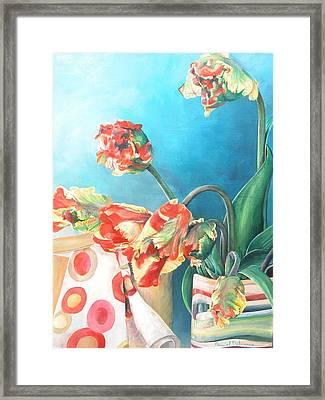 Foulard Framed Print by Muriel Dolemieux